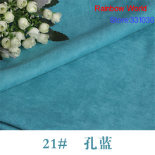21# blue Thin Suede fabric for DIY sewing Sofa pillow bag colthes skirt coat hat shoes material(50*150cm)