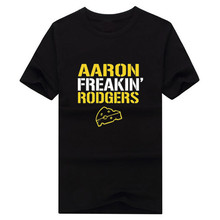 NEW 2017 Fashion Men's Aaron Freakin' Rodgers Green Bay Packers Men's T-Shirt Short Sleeve 100% Cotton(China)