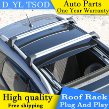 D_YL car styling For Kia Sportage R panoramic sunroof version aluminum roof rack crossbars wing rod mute(China)