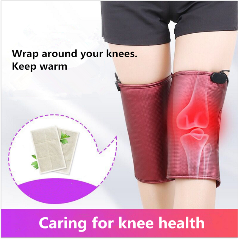 Infrared Knee Physiotherapy Therapy Massager Vibration Electric heating kneepad Warm Knee Pads Massagers Cold Proof Health Tools<br>