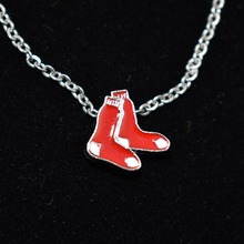 10Pcs Boston Red Sox Necklace Jewelry MLB Team Sports Jewelry Charms With Necklace For DIY(China)