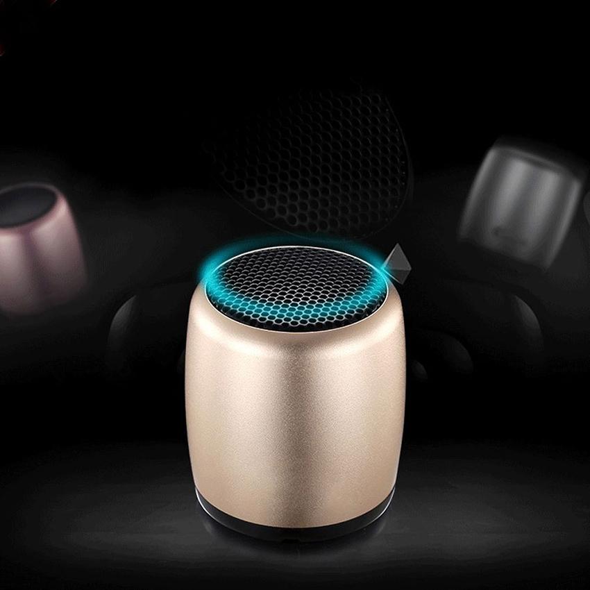 Aimitek Mini Wireless Speaker Small Pocket Size gold-12