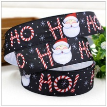 15080514,25mm 10yard cartoon Christmas Series printed grosgrain ribbon, Clothing accessories, DIY accessories handmade materials(China)