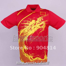 CHINA Team Men's  table tennis T-Shirt  , Chinese national flag Table Tennis , Ping Pong shirt with flag L2037A