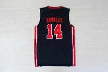 Retro College Stitched 10 Clyde Drexler 11 Karl Malone 14 Charles Barkley 1992 dream team usa Basketball Jersey(China)