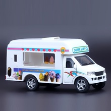 High Simulation Exquisite Diecasts&Toy Vehicles: Good Car Styling Ice Cream Truck and Catering Truck 1:36 Alloy Diecast Model