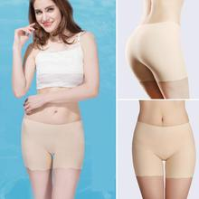 Buy Women Safety Leggins Female Safety Short Pants Summer Ice Silk Mid Waist Sexy Solid Breathable Boyshorts Panties Ladies Boxer