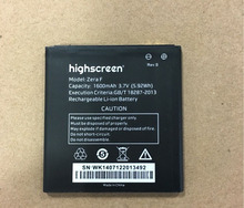 100% High quality New battery For Highscreen Zera F Rev.S 1600mah battery mobile phone battery  + Valid Tracking code