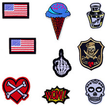 1 PC Skull Patches for Clothing Stickers for Clothes  Decoration Patch Parches Bordados Iron on Patches