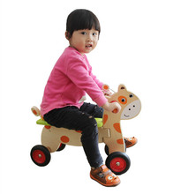 Baby Educational Toys Child Cartoon Deer Bicycles Infant Walker Germany Balance Bike OutDoor Sports Ride On Cars Birthday Gift(China)