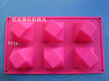 Wholesale/retail,free shipping,1 PCS 6 hole Rotate the square silicone mould cake mold(China)
