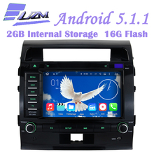 Android 5.1 Car Radio 2 Din Car DVD Player GPS Fit Toyota Land Cruiser 200 2007 2008 2009 2010 2011 2012 2013 In Dash Head Unit(China)