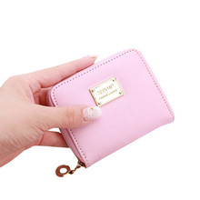 Cute Women's Wallet Leather Small Wallet Fashion Credit Card Holder Zip Coin Purse Clutch Handbags Mini Money Bag Hot Sale