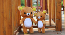 35cm super cute rilakkuma bear stuffed animal doll, teddy bear plush toy birthday gift, rilakkuma plush toy for children