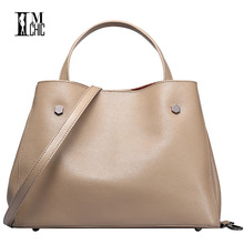 IMCHIC Women Tote Bags Luxury Split Leather Cowskin Elegant Ladies Big Volume OL Work Handbags Casual Woman Crossbody Messenger