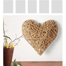 Handmade Rustic Shabby Hemp Rope Heart Hanger Wedding Hanging Decoration