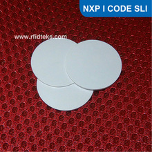 Dia 25mm RFID Tag for access control, RFID PVC Token for asset management, RFID PVC tag with I CODE SLI Chip