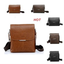 new 2017 hot sale fashion men shoulder bag, men composite leather messenger bag, high quality business bag, free shipping(China)