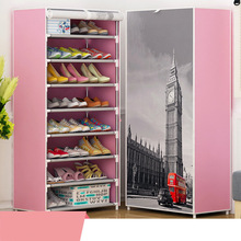 Fashion design DIY Non-woven 8Tier8 Homestyle Shoe Cabinet Shoes Racks Storage Large Capacity Home Furniture Diy Simple
