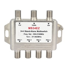 3x4 DiSEqC Satellite Stand-Alone MultiSwitch FTA TV LNB Switch Cascade 3 in 4 multiswitch 2 LNB 1 TERR IN For DVB-S2 and DVB-T2