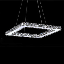 AC100-240V 20/40/60/80cm Squre LED Pendant lights Modern Crystal Lampshade Lustres hanging lamparas colgantes luminaire New(China)