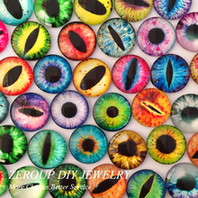100pcs/lot 6mm and 8mm round glass dome cabochon eyes mixed pattern fit cameo base setting for jewelry embellishment flatback
