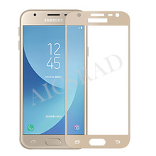 Buy Full Cover Tempered Glass Samsung Galaxy J5 J7 J3 2017 J530 J730 J330 Full Screen Protector Film Colorful Protective EU for $1.89 in AliExpress store