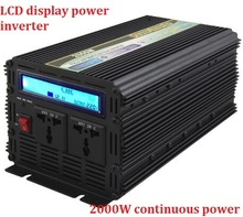 continuous power 2000w inverter DC12v/24v input to AC 220v output peak power up to 4000w modified sine wave power inverter