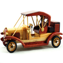 Cosette Vintage Collect Handmade Realistic Classic Tourist Vehicle Wooden Car Model