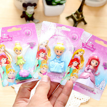 1x Creative stationery children Cute princess girl eraser eraser primary school prizes school kawaii school supplies(China)
