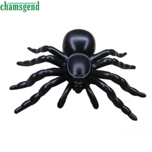 CHAMSGEND Modern Toys for Children Halloween Plastic White Black Spider Joking Toys Decoration Realistic  Kids Toys WOct19