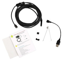 1m/1.5m/2m 7mm Waterproof Android USB Endoscope LED Inspection Borescope Tube Snake Mini Video Camera Camcorder Black