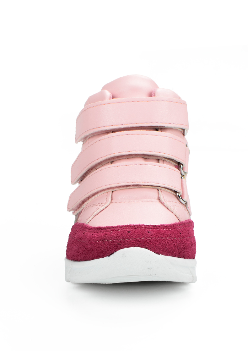 ULKNN Girls Sneakers Kids Shoes Girls Running Shoes Floral Print Breathable Genuine Leather Soft sapatos infantil Pink Size 20-25 (7)