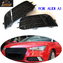 A1 car front Fog lamps covers for Audi A1 2011  2012 2013 2014 2015 2016  ABS auto light Hoods standard bumper
