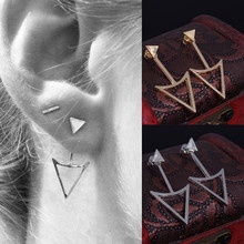 New Gold Color Earrings Stud Earrings for Women Brand Designer Hollow Out Punk nice Earring Jewelry Brinco