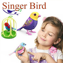 Cute Electric Toys Solo Singing Sound Bird Pets Baby Intelligent Music Digibirds With Birdcage Music Bird for Kids Children 793#(China)