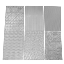 6Pcs Texture Mat Food grade Plastic Fabric Cake Texture Mat Sugar Craft Decoration Fondant Cake Mold Tools