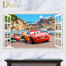 Movie Cartoon Cars Series Window Sticker Kids Room Bedroom Decor 3D Wall Sticker Vinyl Home Decals Art Poster Mural Sticker