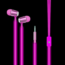 Luminous Earphones Glow In the Dark Cool Flash Led Headset in-ear Earpiece with Microphone Earbuds for Iphone samsung Mp3 Player