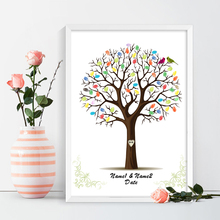 Buy Birds Wedding Tree,Free Personalized Custom Fingerprint DIY Guest Book Engagement Party Wedding Ceremony,No Frame for $6.62 in AliExpress store