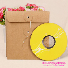20pcs Creative CD Paper Case Bag,Blank Kraft Envelopes, Natural color Plain Kraft Paper Gift Bag,Party Cards Paper bag