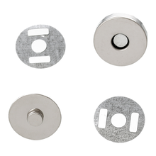 "8SEASONS 20 Sets Silver Tone Color Magnetic Purse Snap Clasps/ Closure for Purse Handbag 14mm(4/8"") Dia. (B20766)(China)"