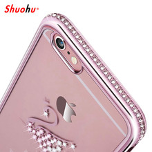 Buy Shuohu Luxury Bling Rhinestone Case Iphone 8 7 6 6s Plus Cases Coque Iphone X 5 5s SE Case Glitter Diamond Silicone Cute for $2.69 in AliExpress store