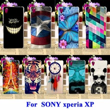 AKABEILA Flexible Silicon Phone Cases For SONY Xperia X performance Covers F8131 F8132 Bag For SONY xperia XP Dora SS Shell Hood(China)
