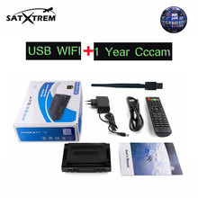 Digital Tv Receiver decoder Freesat V7 DVB-S2 HD tv tuner 1 pcs usb wifi 1080P HD satellite receiver For 1 year Cccam cline
