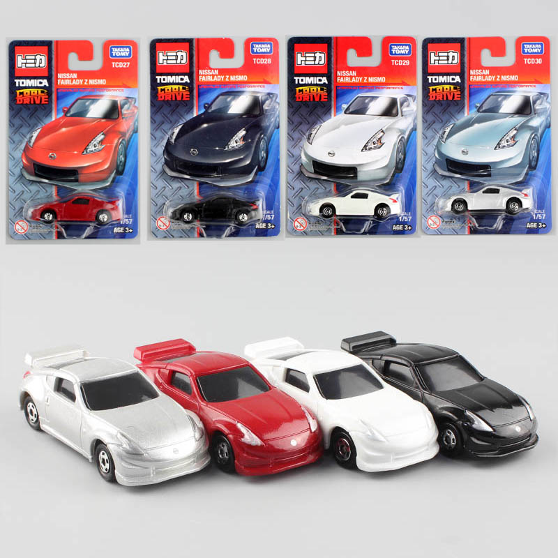 4pcs Tomy kid's tomica Nissan Fairlady Z Nismo diecast cars vehicle models baby race toys cheap styling for babies children 2017(China (Mainland))