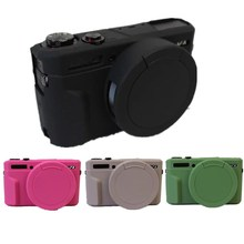 New Silicone Camera Case For Canon G7X Mark 2 G7X II G7X2 G7XII Protective Body Cover Bag with Lens cap 4 Colors