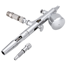0.2mm / 0.3mm / 0.5mm Portable Gravity Feed Dual Action Airbrush Paint Spray Gun Set BT - 180T Airbrush For Nail Art Cake Model