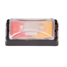 2pcs 12V Car Covers 3 LED Side Markers for Trucks Buses Two Colors Trailer Lights For mercedes KTM Skoda Turn Signal Lamp