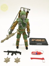 G.I.Joe special forces 3.75 inch 50 anniversary of the double loaded flamethrower, crocodile master
